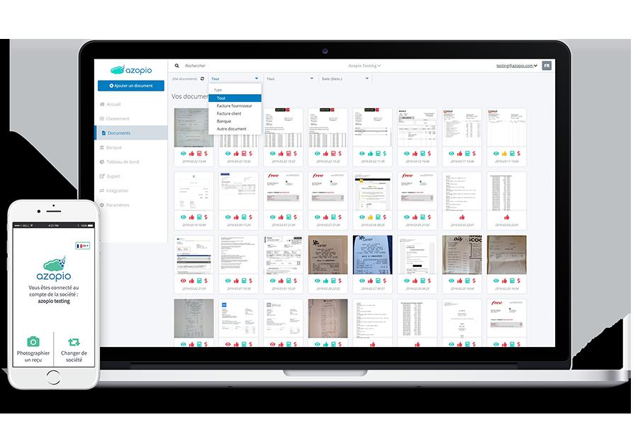Meilleur logiciel comptabilité TPE : visuel Azopio