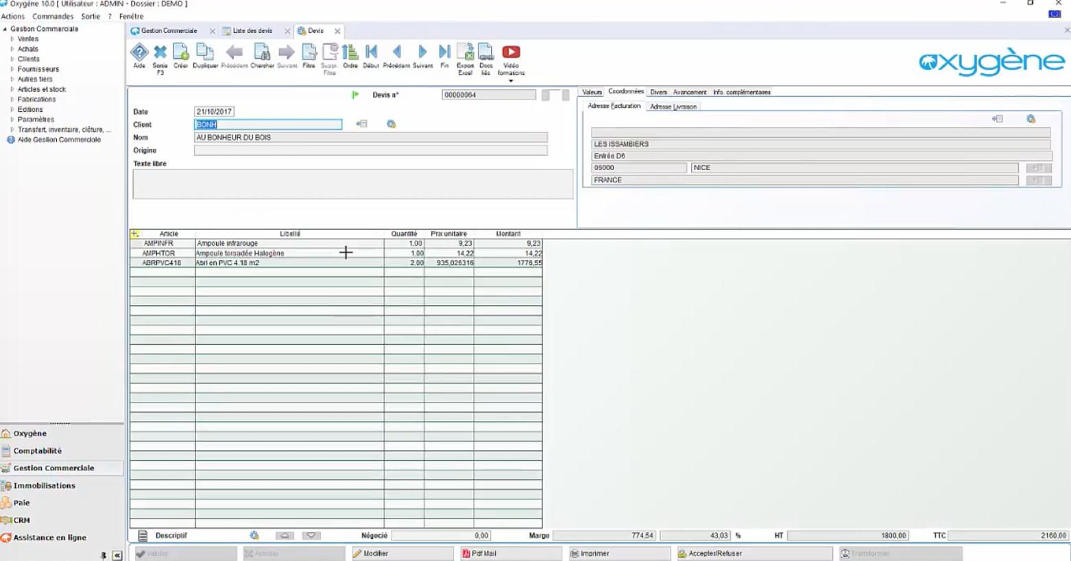 Meilleur logiciel comptabilité gratuit : visuel Memsoft Oxygène Comptabilité