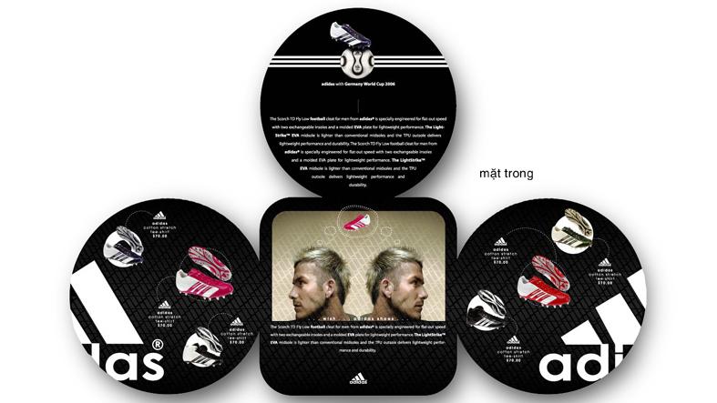 Plaquette commerciale innovante pour la nouvelle gamme Adidas © Entheos