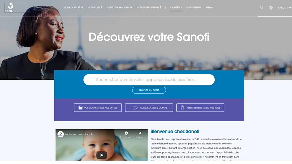 site carrière Sanofi