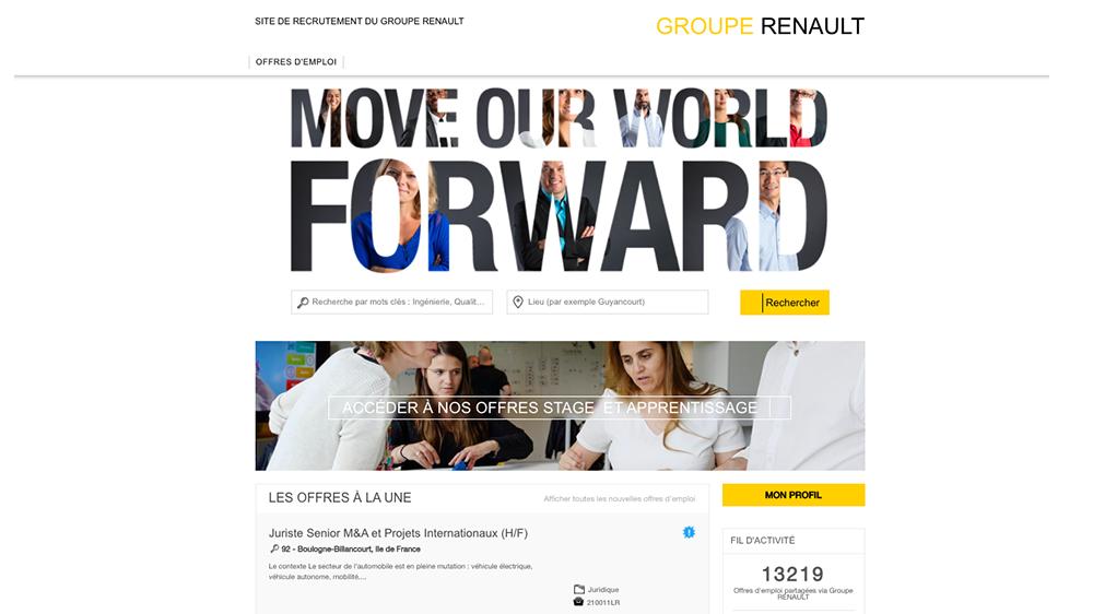 site carrière Renault