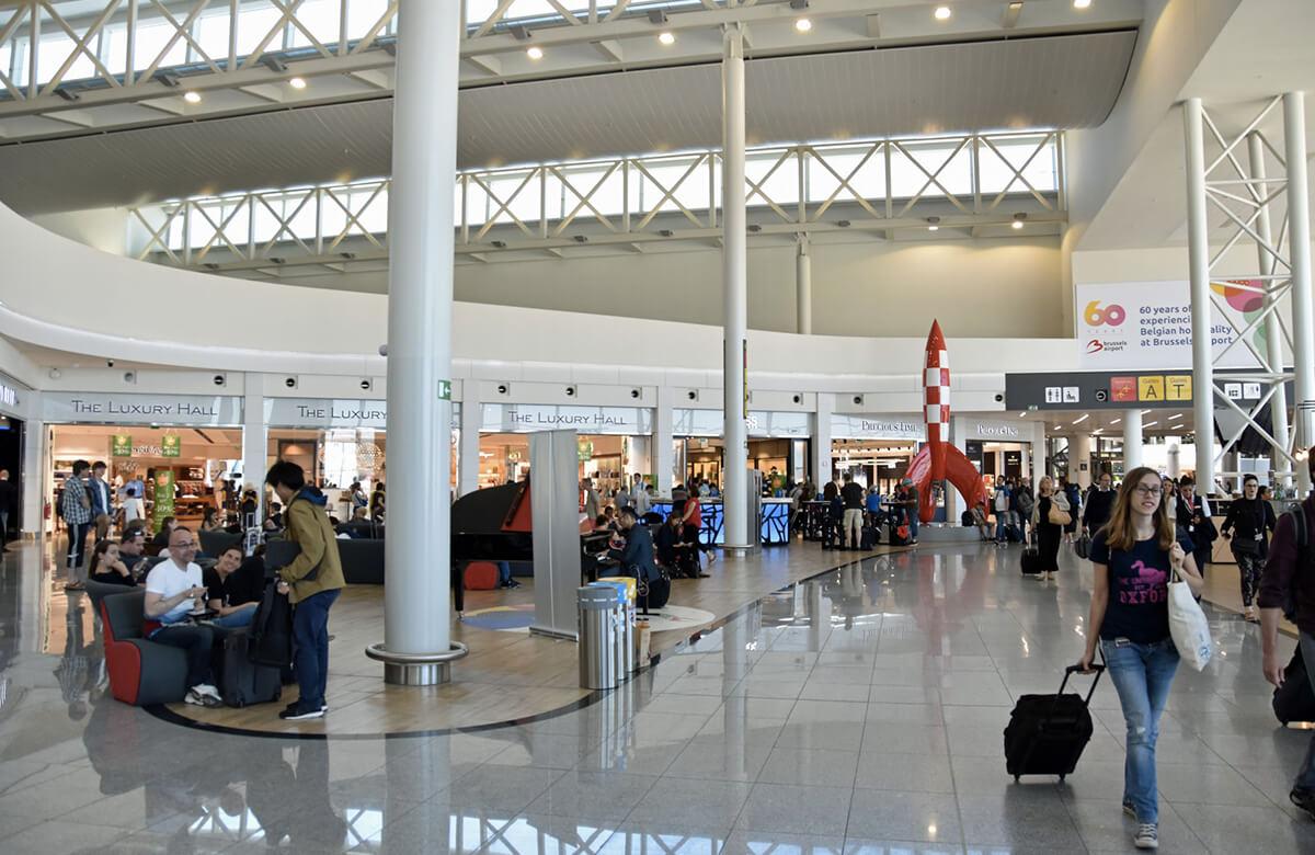 Les boutiques duty free à l'aéroport de Bruxelles