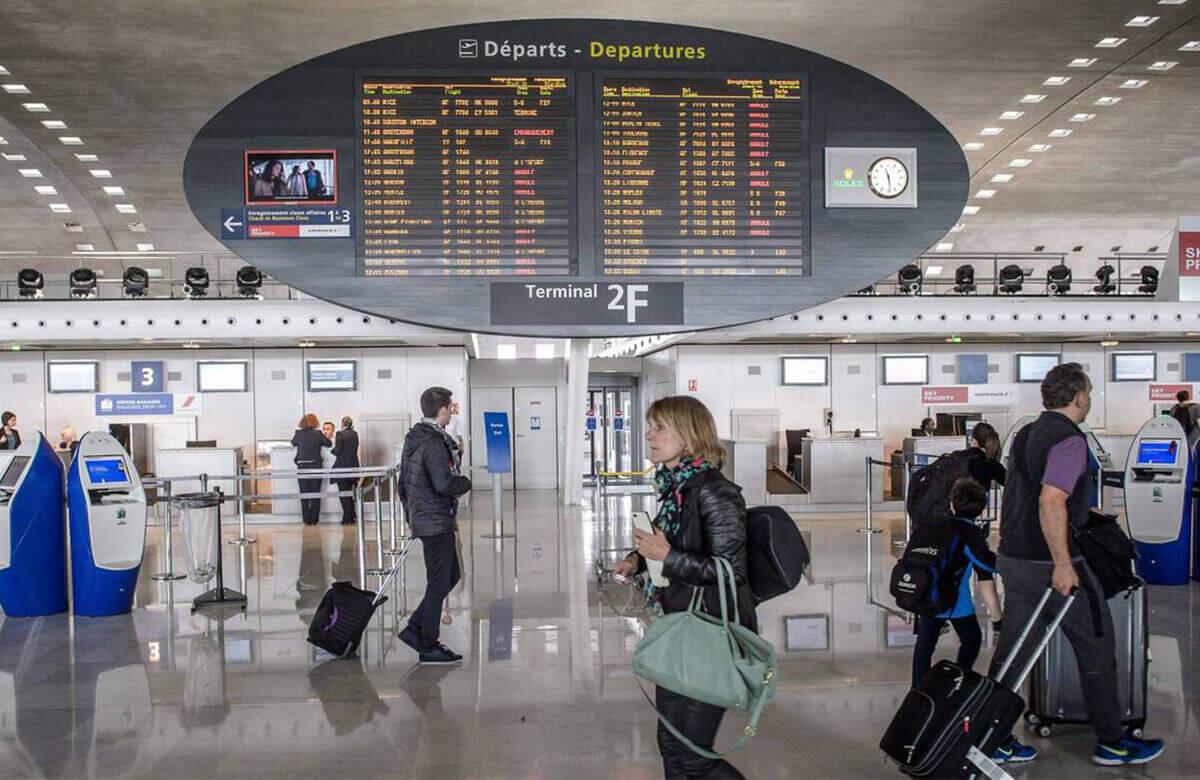 Les terminaux de l'aéroport de Roissy-Charles de Gaulle