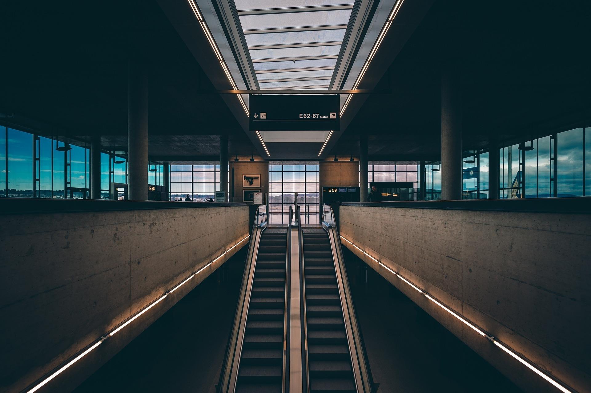 Un aéroport en temps de covid-19