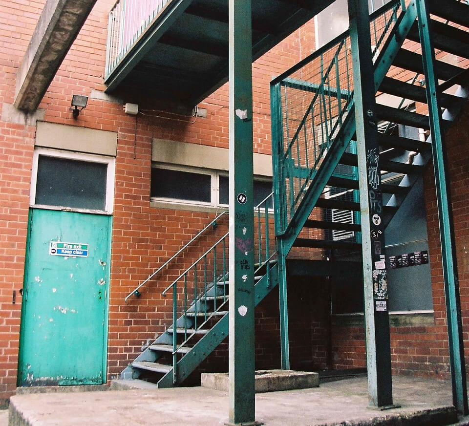 Outside staircase shot of Pirate Studios Birmingham building