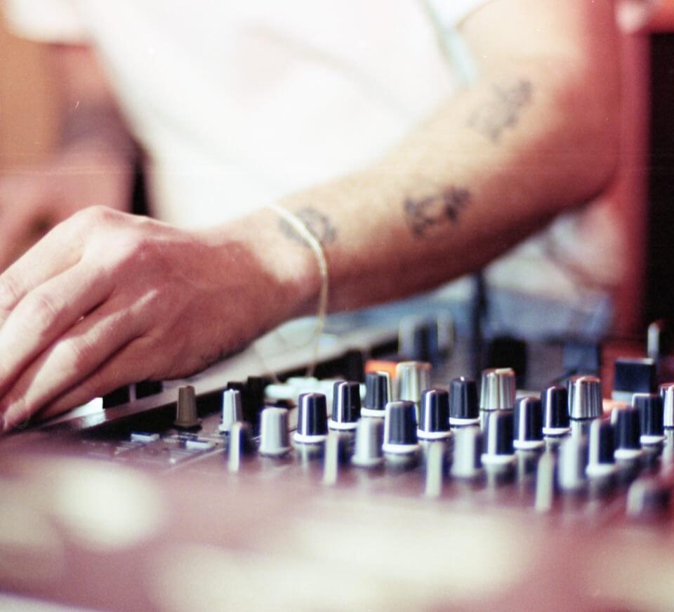 DJ using Pirate Studios DJ equipment
