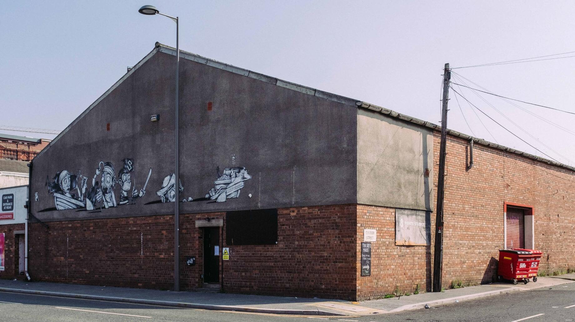 This image may contain: wall, brick, tarmac, asphalt, road