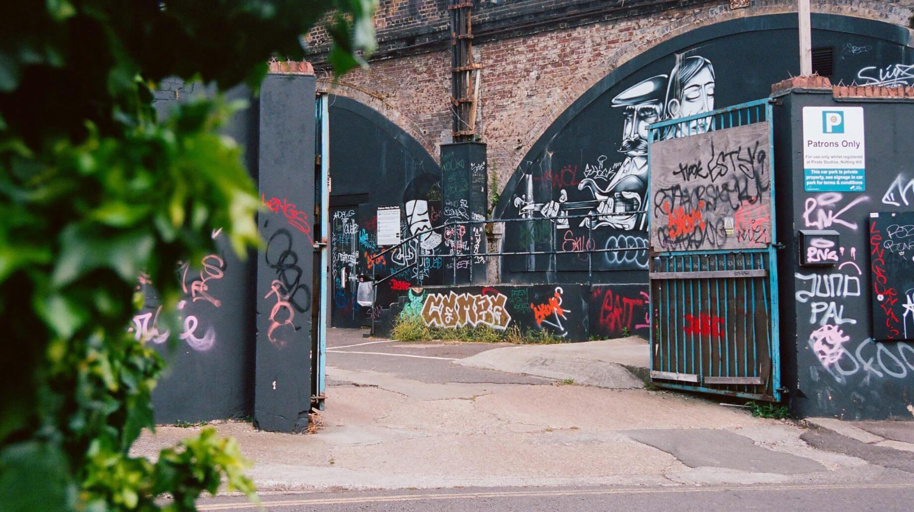 This image may contain: graffiti, art, mural, painting