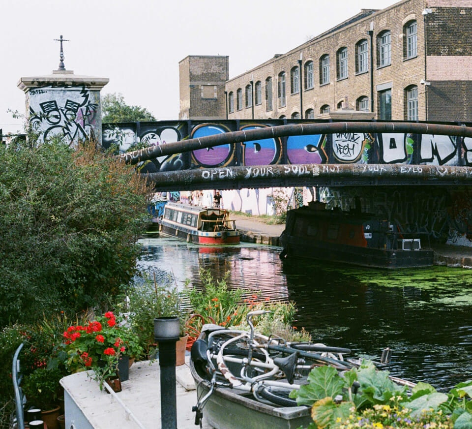Canal shot in Hackney Wick close to Pirate Studios Hackney