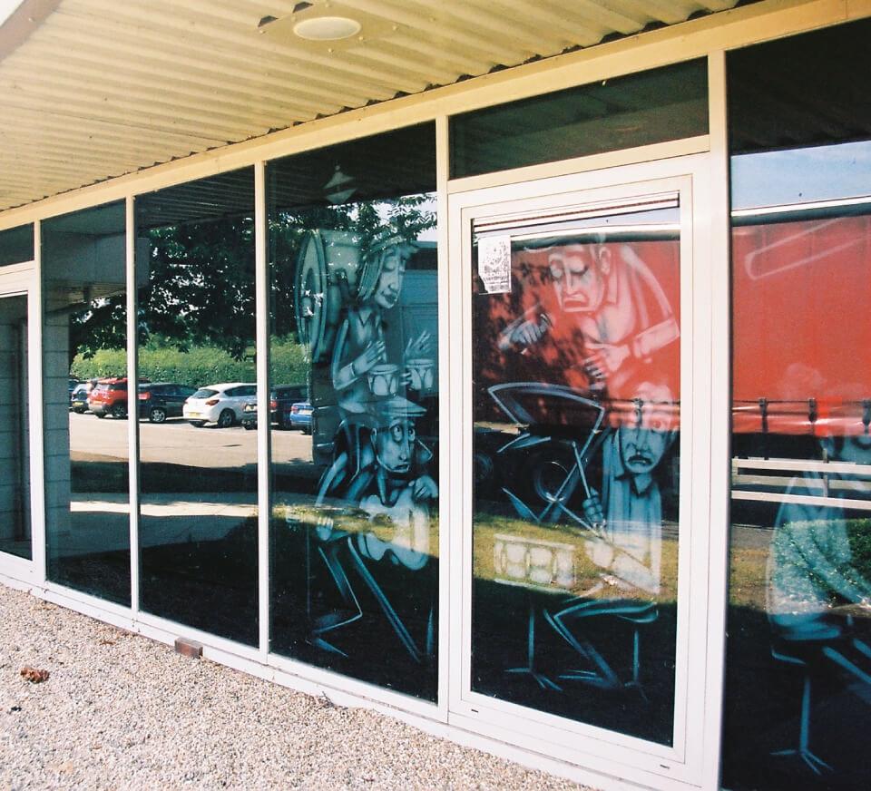 Shot of artwork inside Pirate Studios Reading location