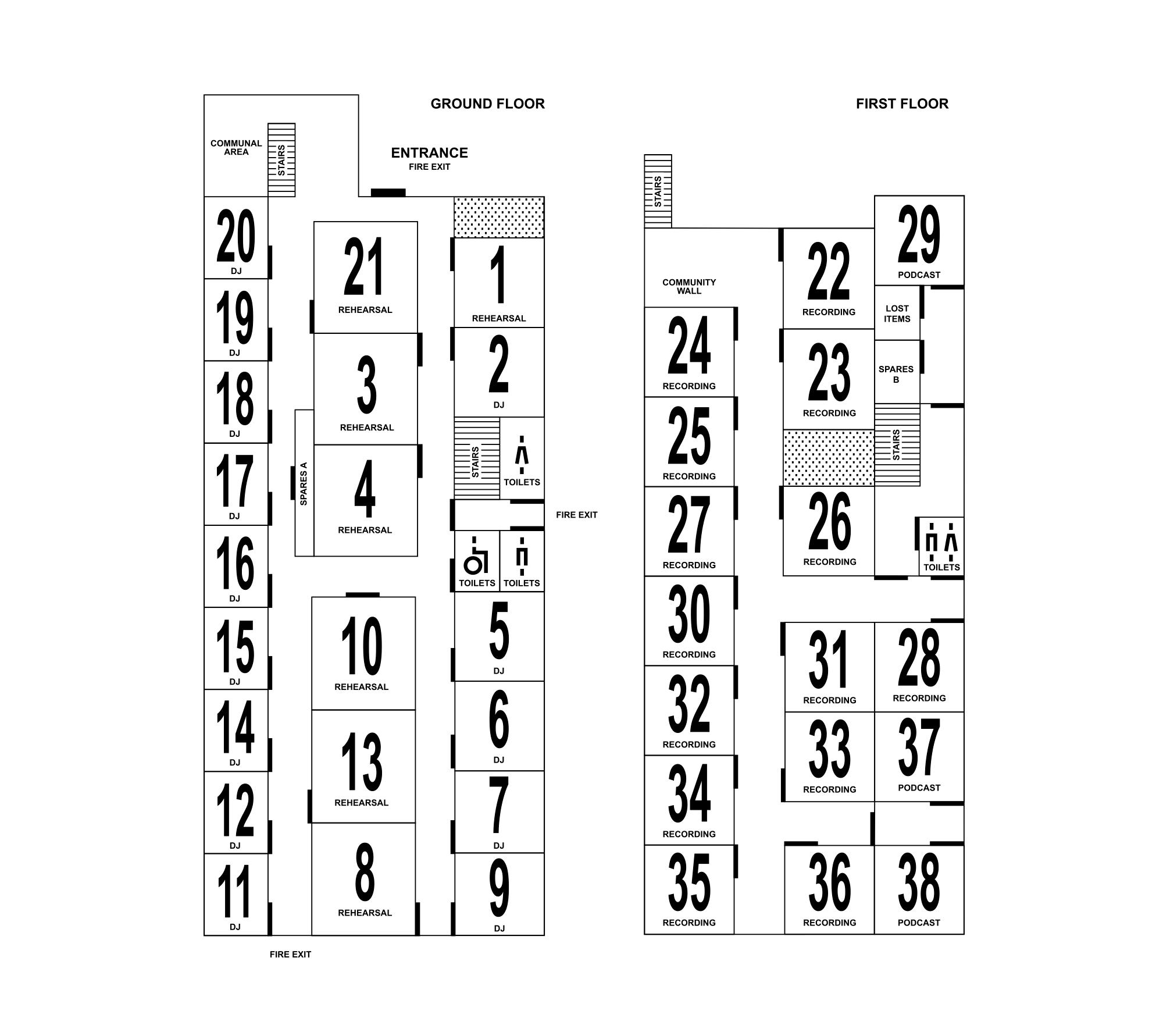 Floorplan: Ground and first floors