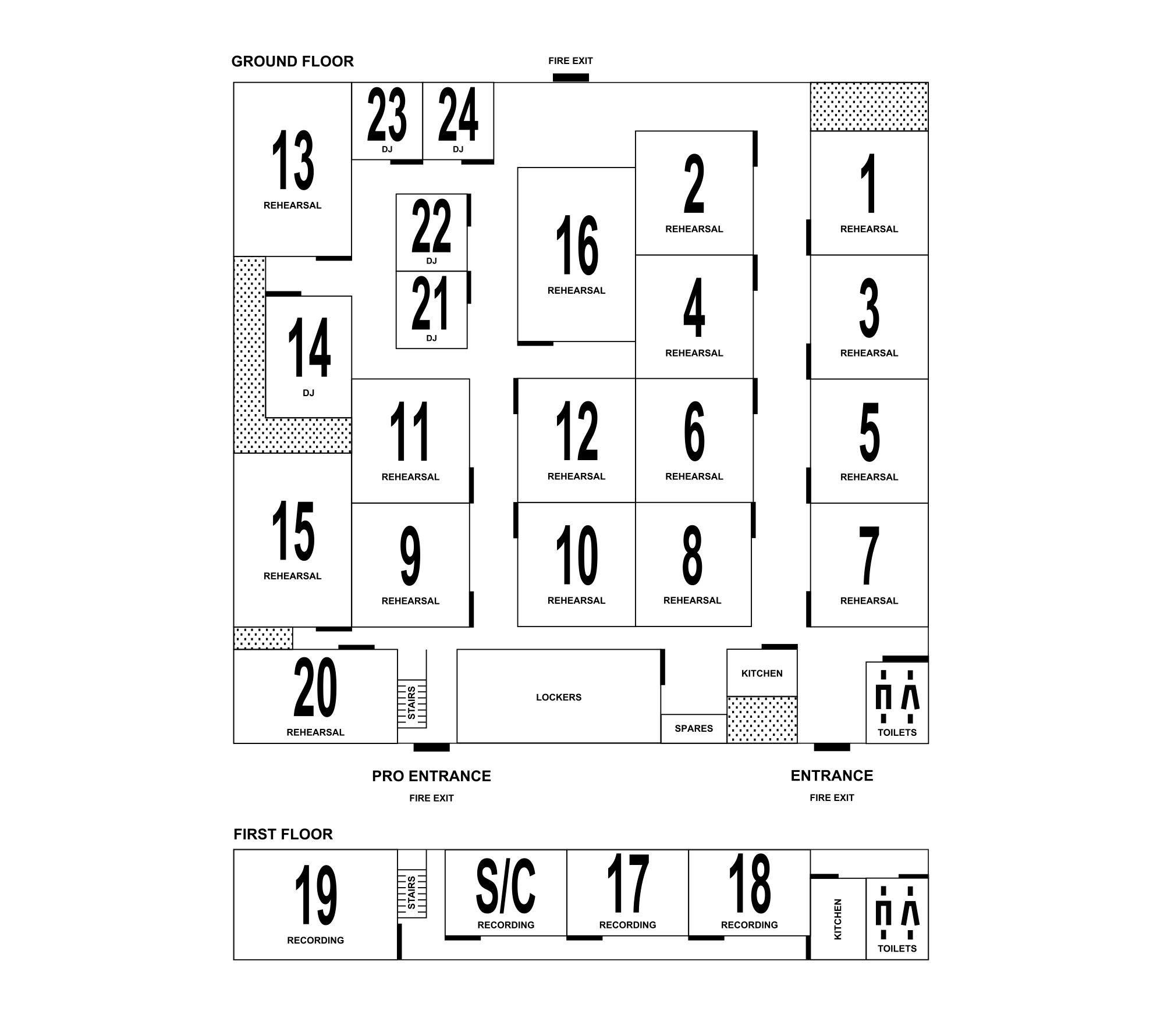 Floorplan: Ground and first floor