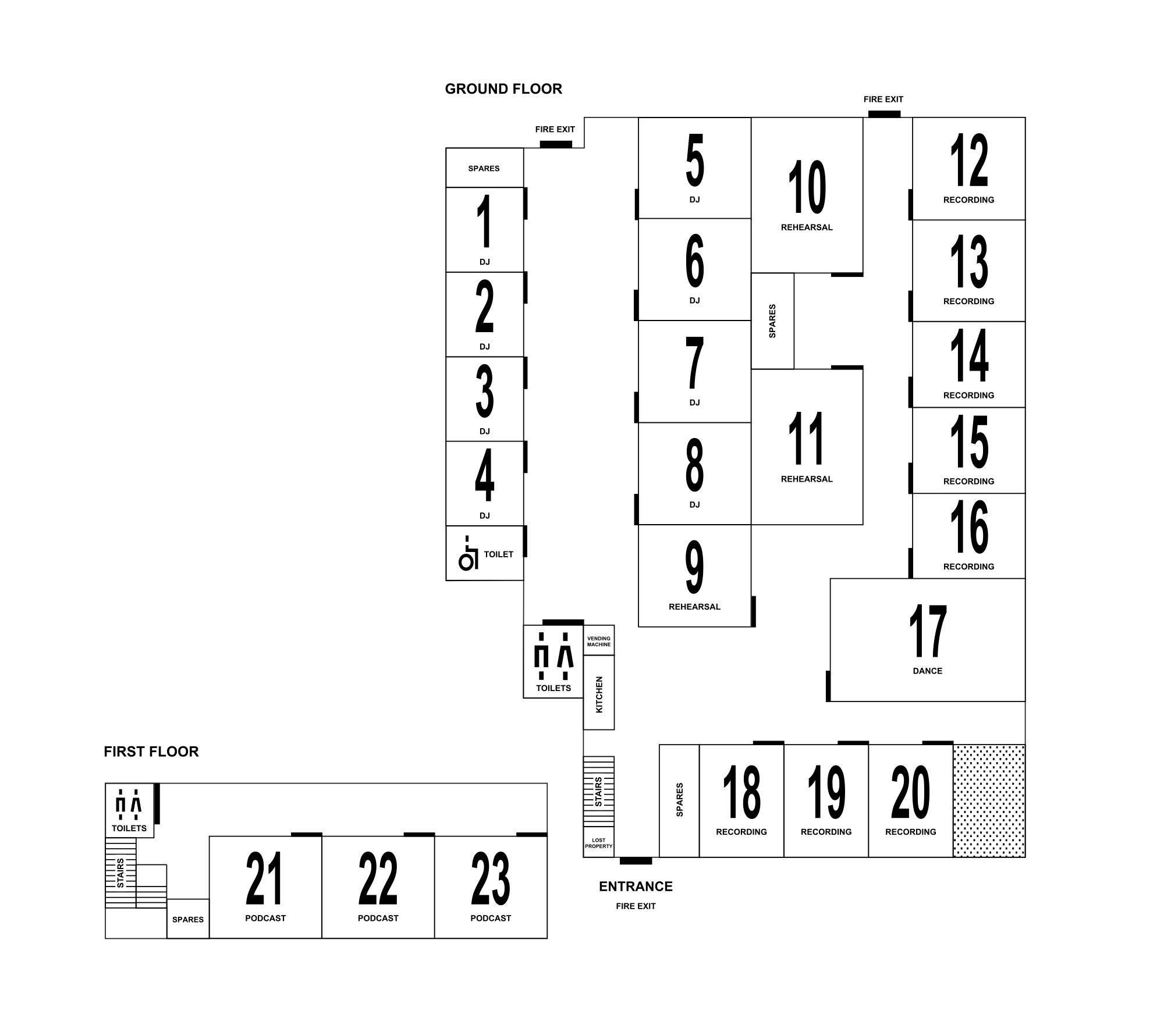 Floorplan: Ground & first floor