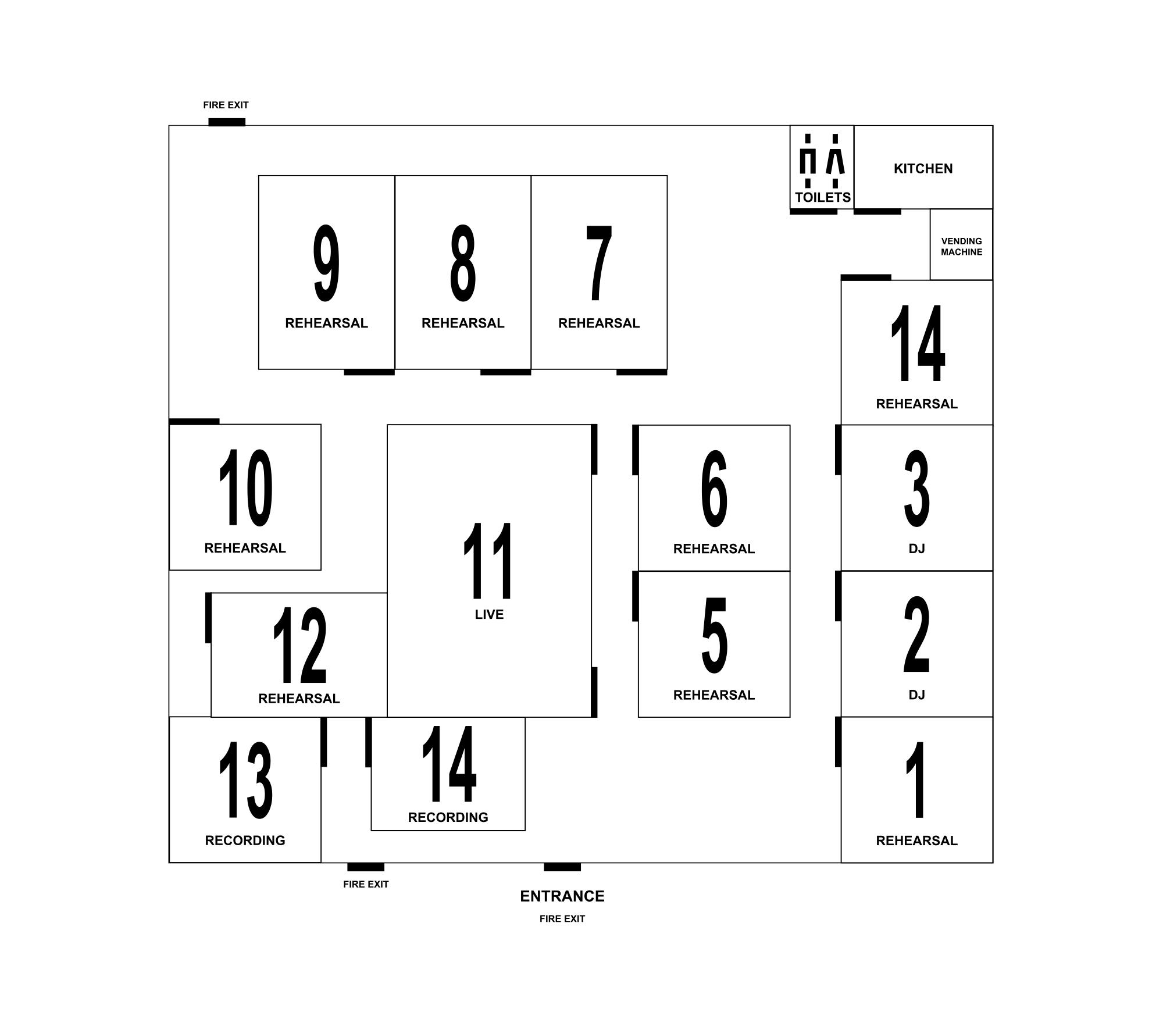 Floorplan: Ground floor and first floor