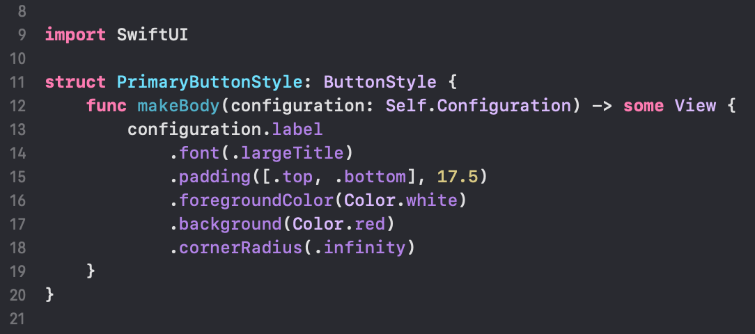 Custom button style in SwiftUI