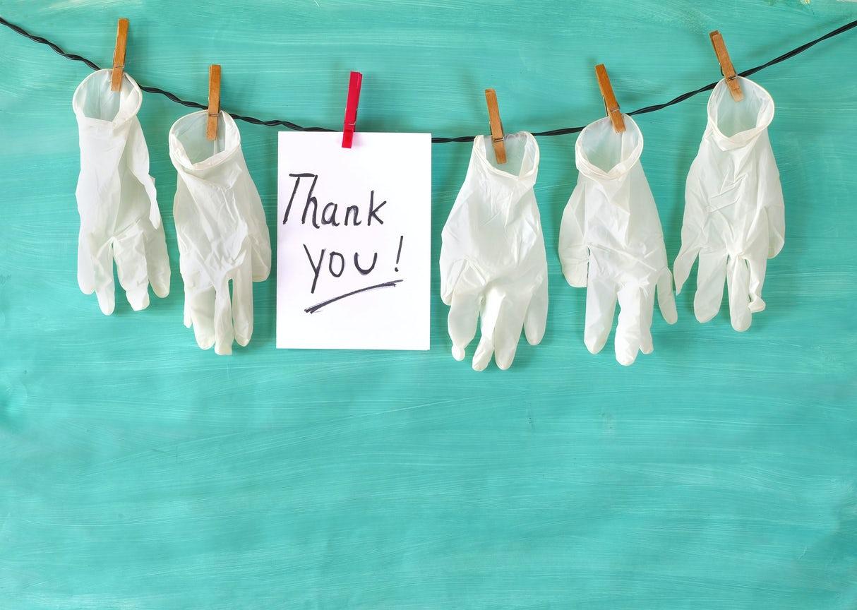 Geben oder fürs bescheid sagen danke Danke sagen: