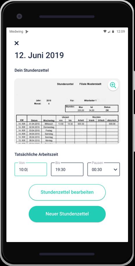 Digitaler Stundenzettel Pflege