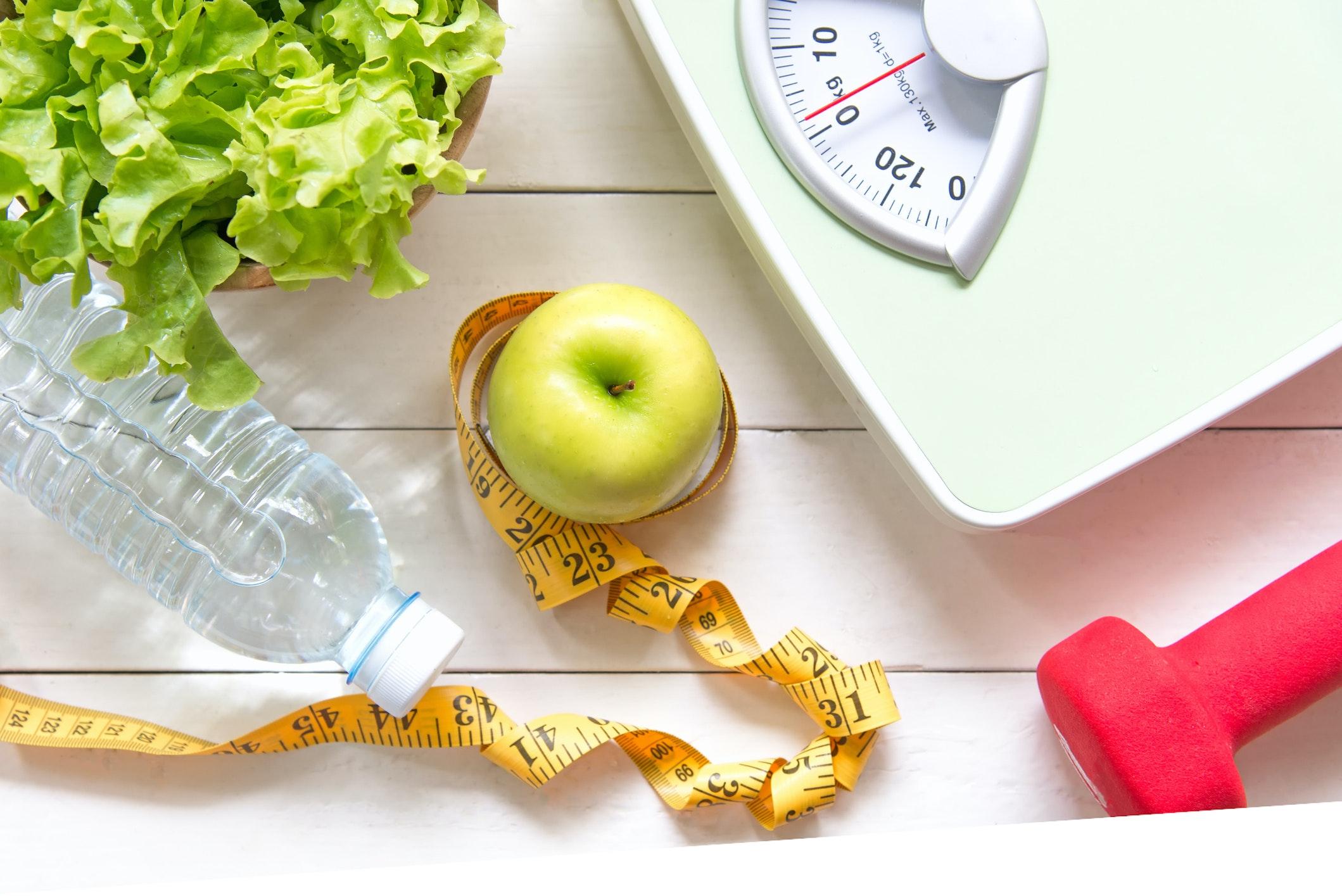 gesunder Lifestyle Sport Ernährung Gewicht