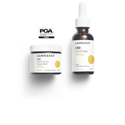 Cannaray CBD PGA Golfer's Kit