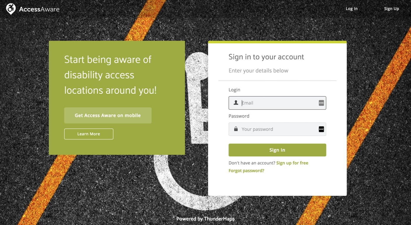 Harnessing location reporting technology for mobility parking – the Access Aware app