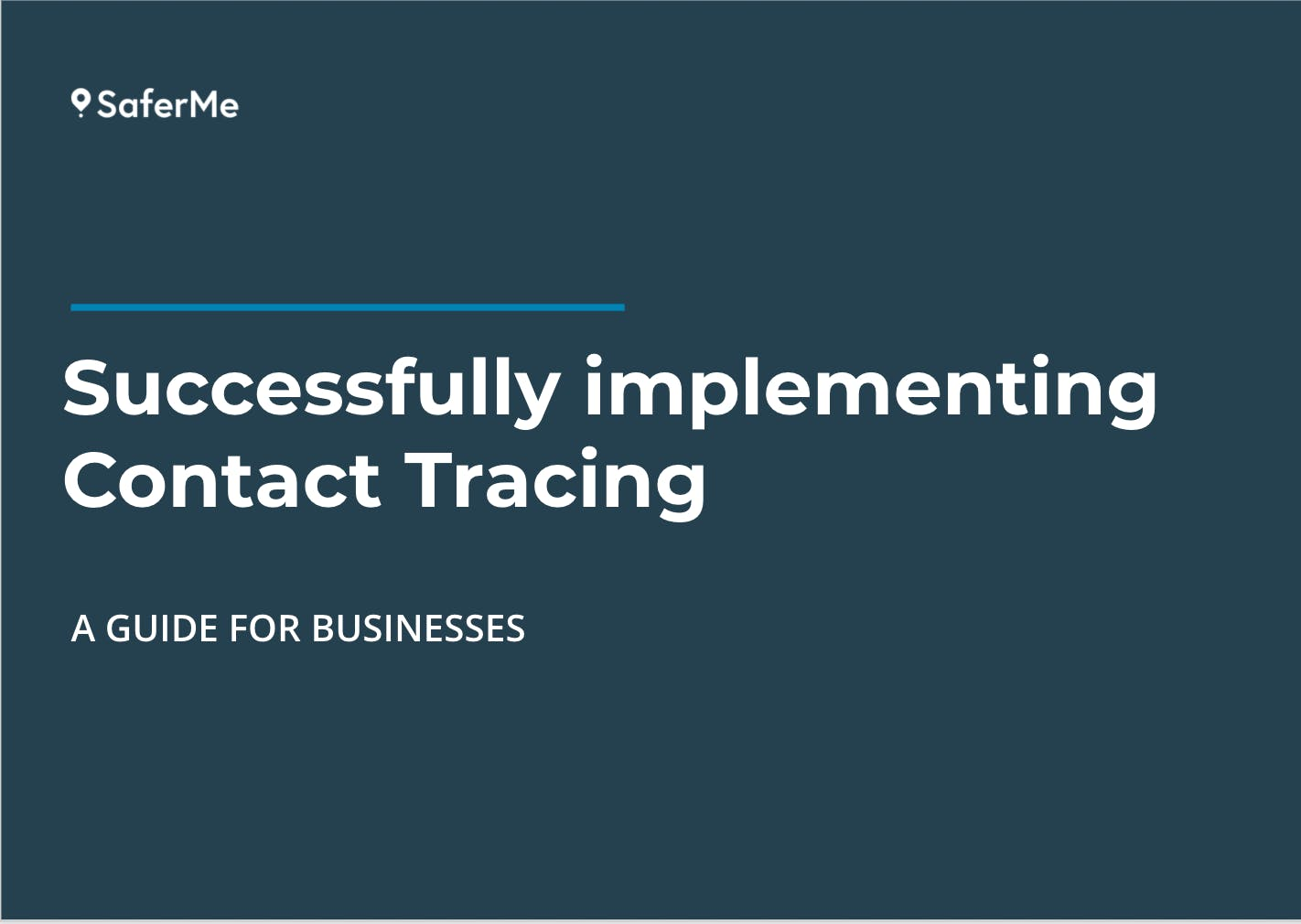 Guide to implementing contact tracing at work