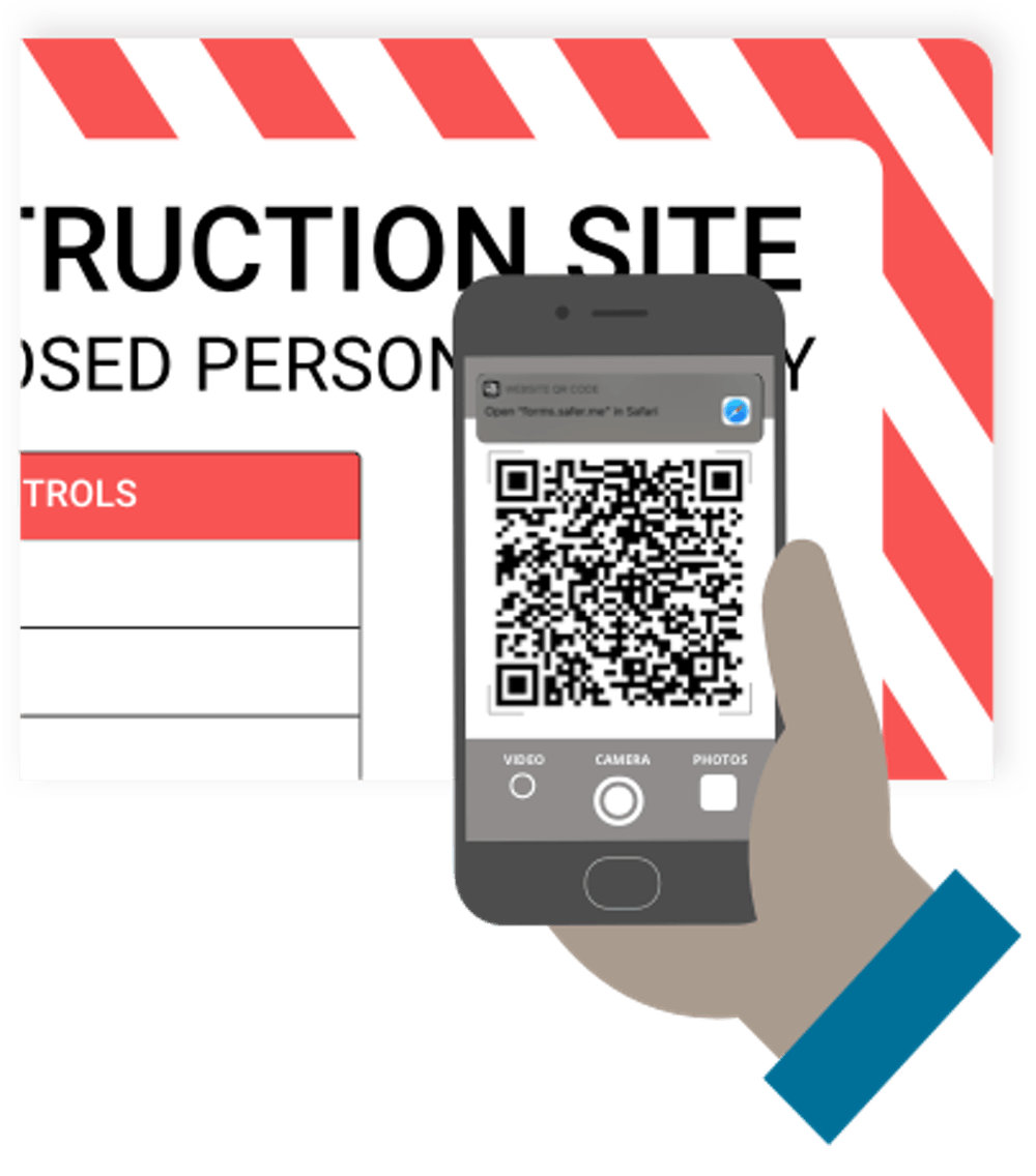 Scanning QR code to get to a safety induction form