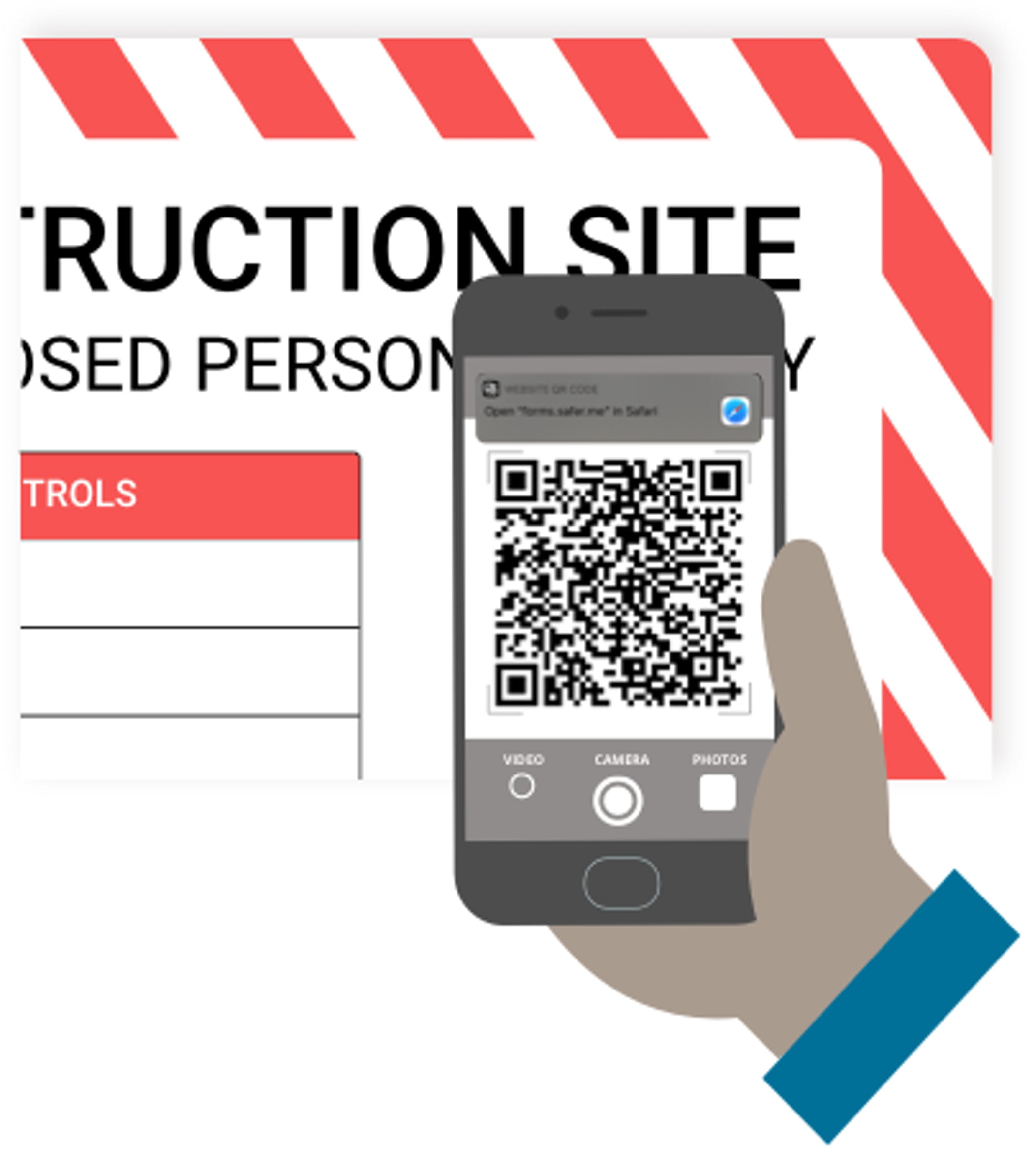 Safety indusction via QR code scan at construction site