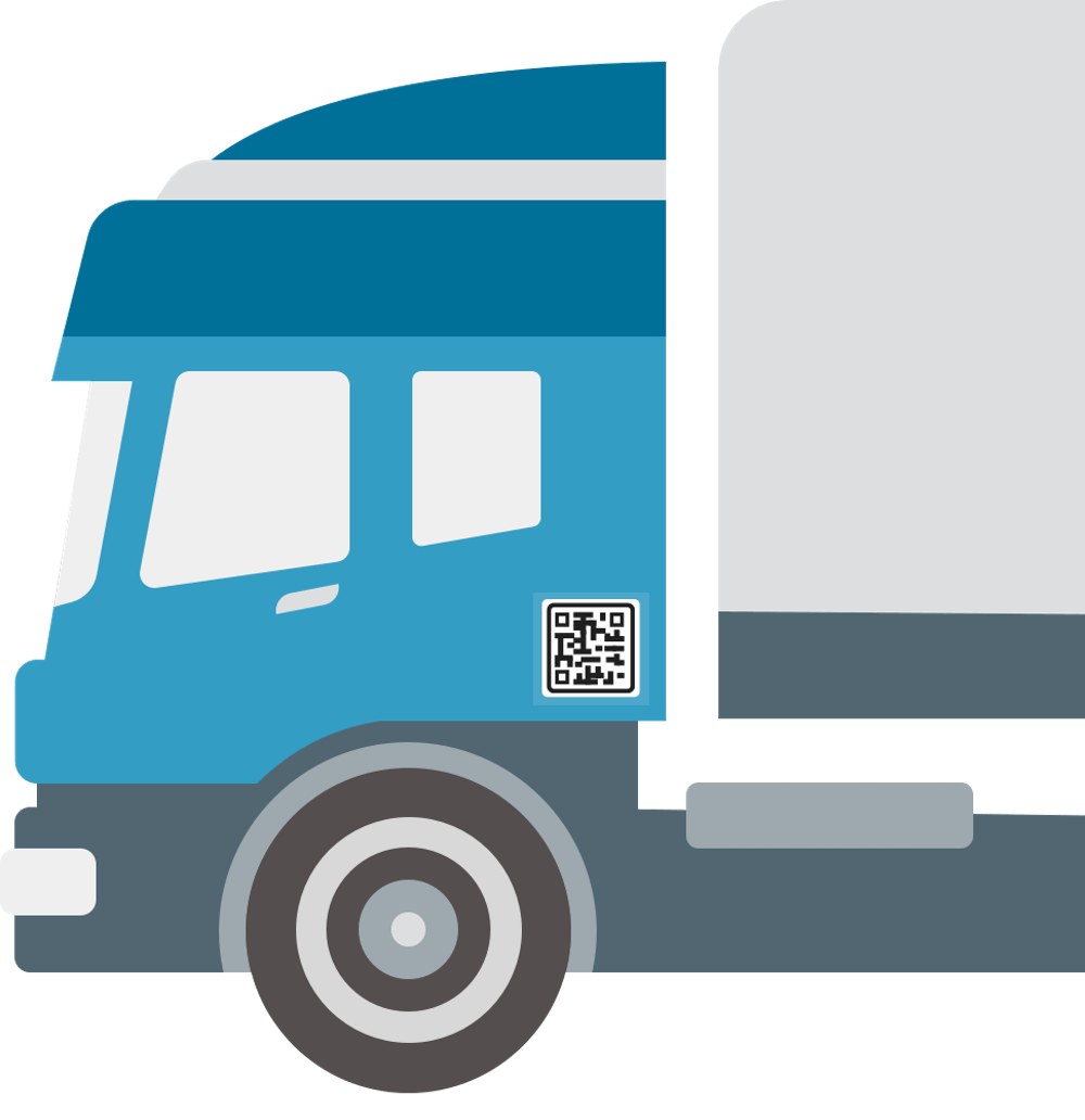 Truck with large QR code