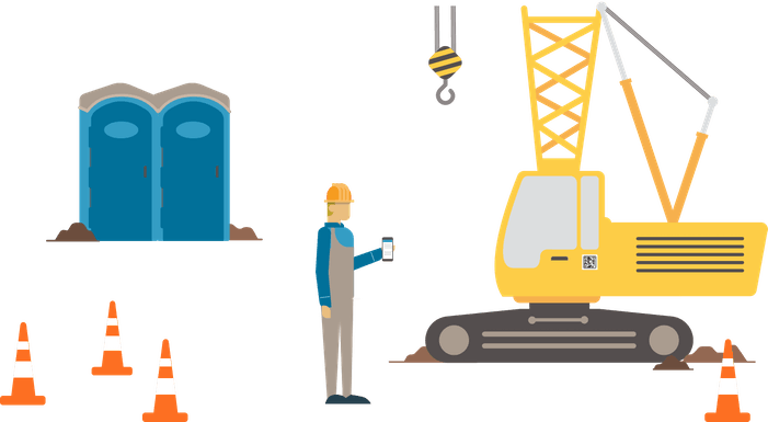 Site Checklist with Crane and Facilities