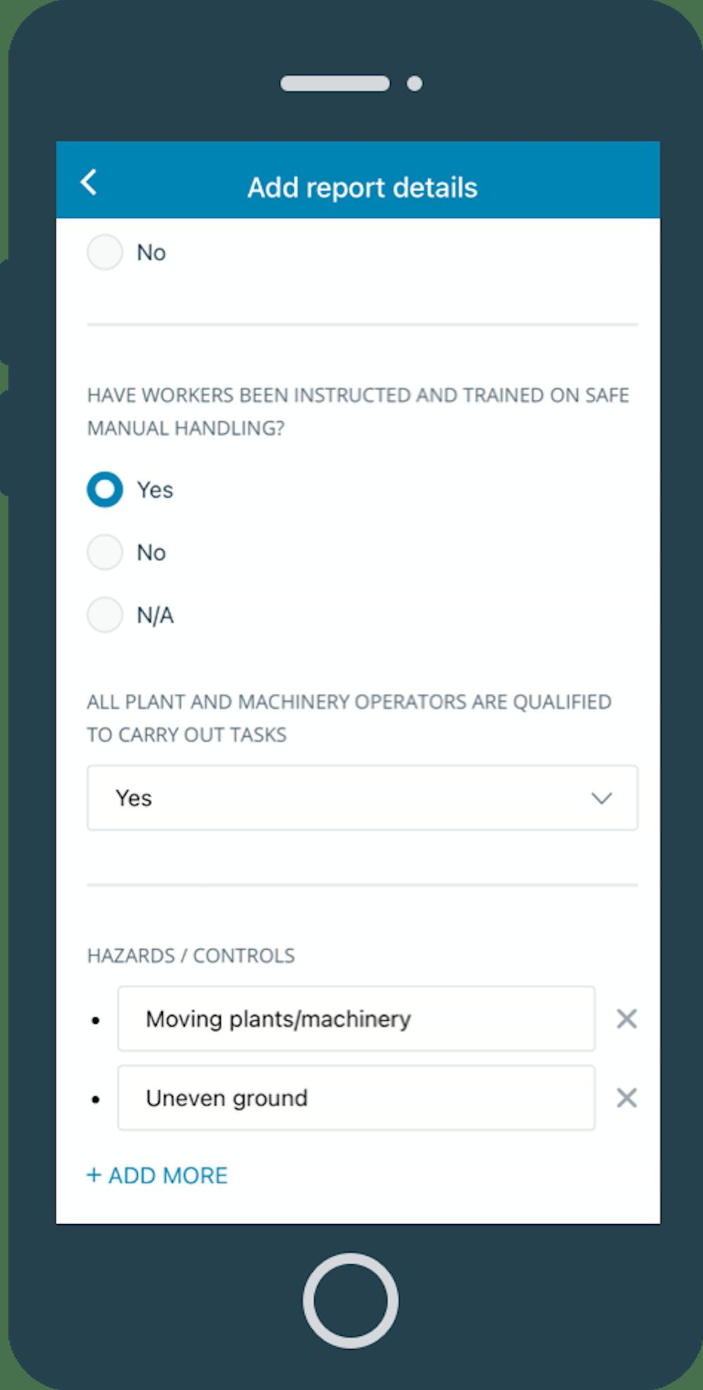 Site Checklist in SaferMe app