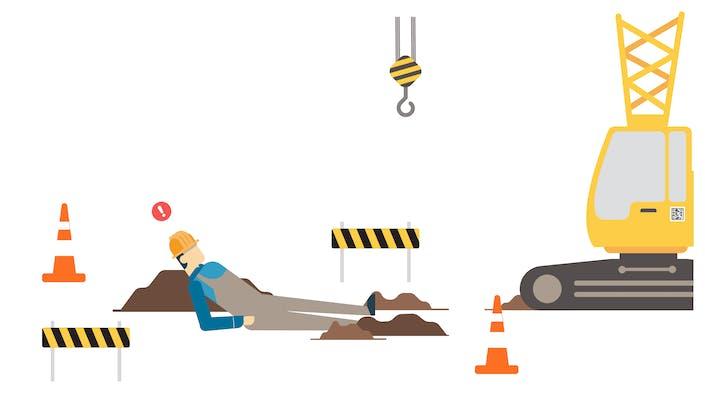 Worker slipped/fell on worksite