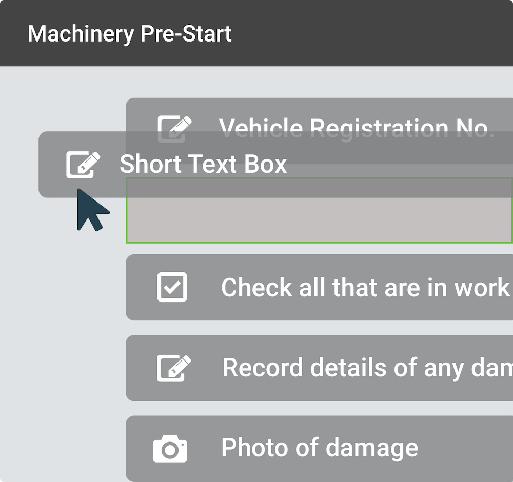 Machinery Pre-Start form built in SaferMe