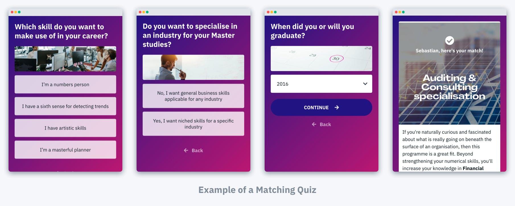 MBA Matching Quiz