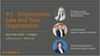Office hours  - Webinar #5 : Employment Law and your Organisation