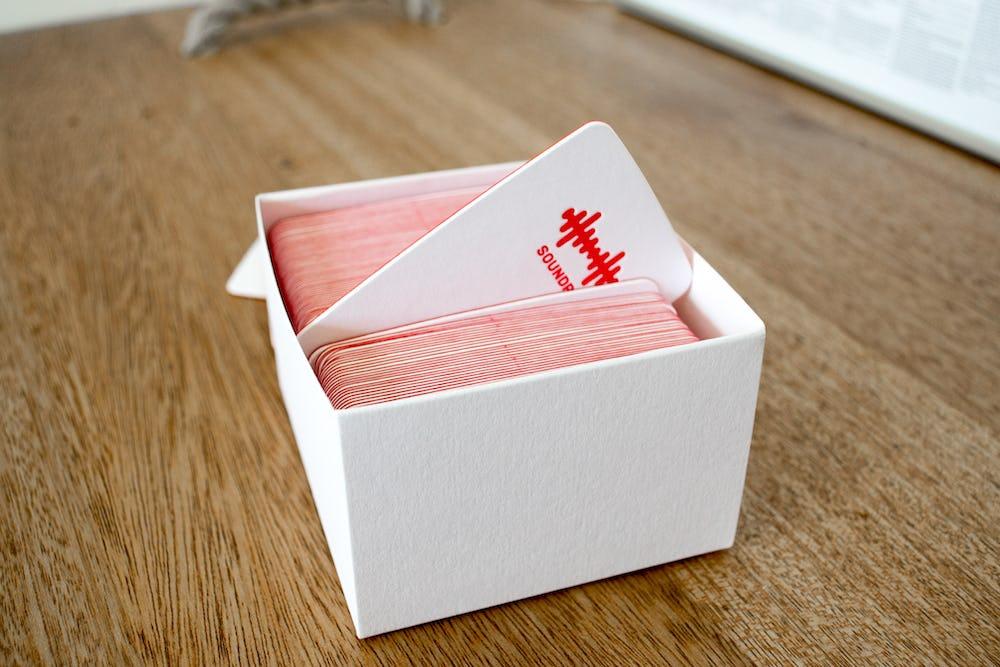 Soundry business cards box