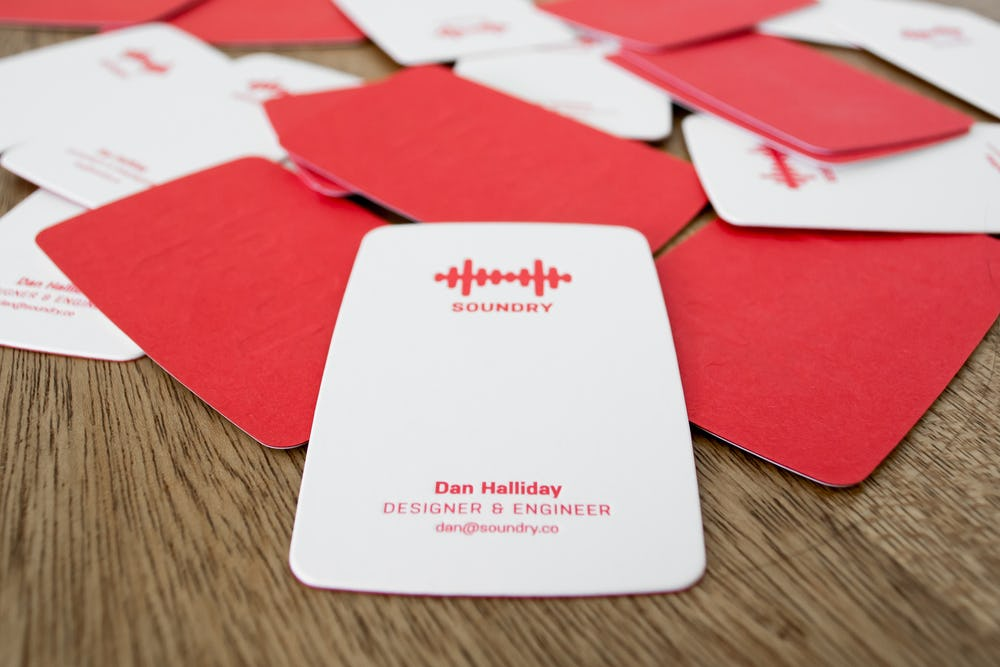 Scattered Soundry business cards