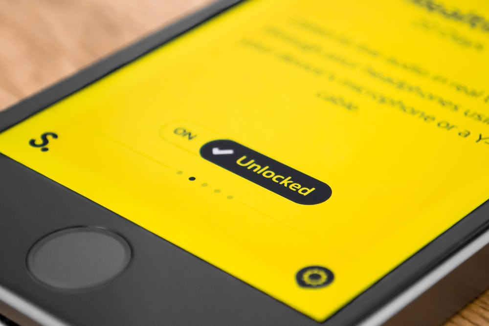 Bright yellow modern app design