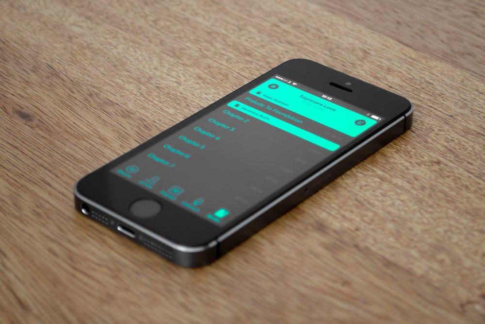 App playlist screen