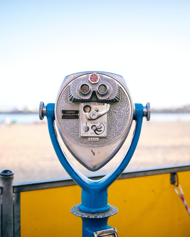 Binoculars overlooking beach