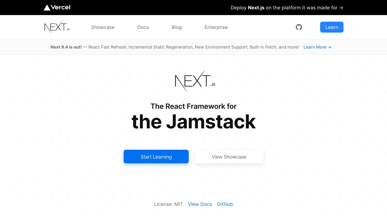 Next.js home page