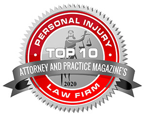 ATTORNEY AND PRACTICE MAGAZINE TOP 10 PERSONAL INJURY ATTORNEY AWARD