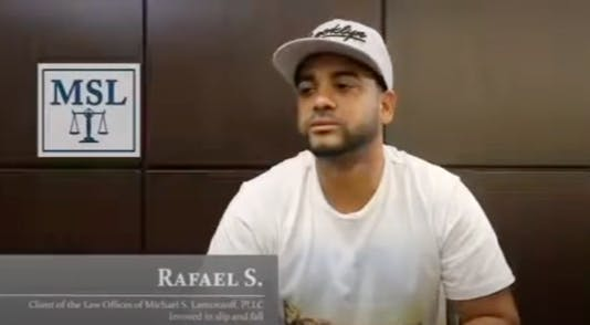Video of Sidewalk Accident Victim Rafael's Story