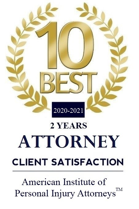 American Institute of Personal Injury Attorneys - 10 Best Attorneys 2020 - 2021.
