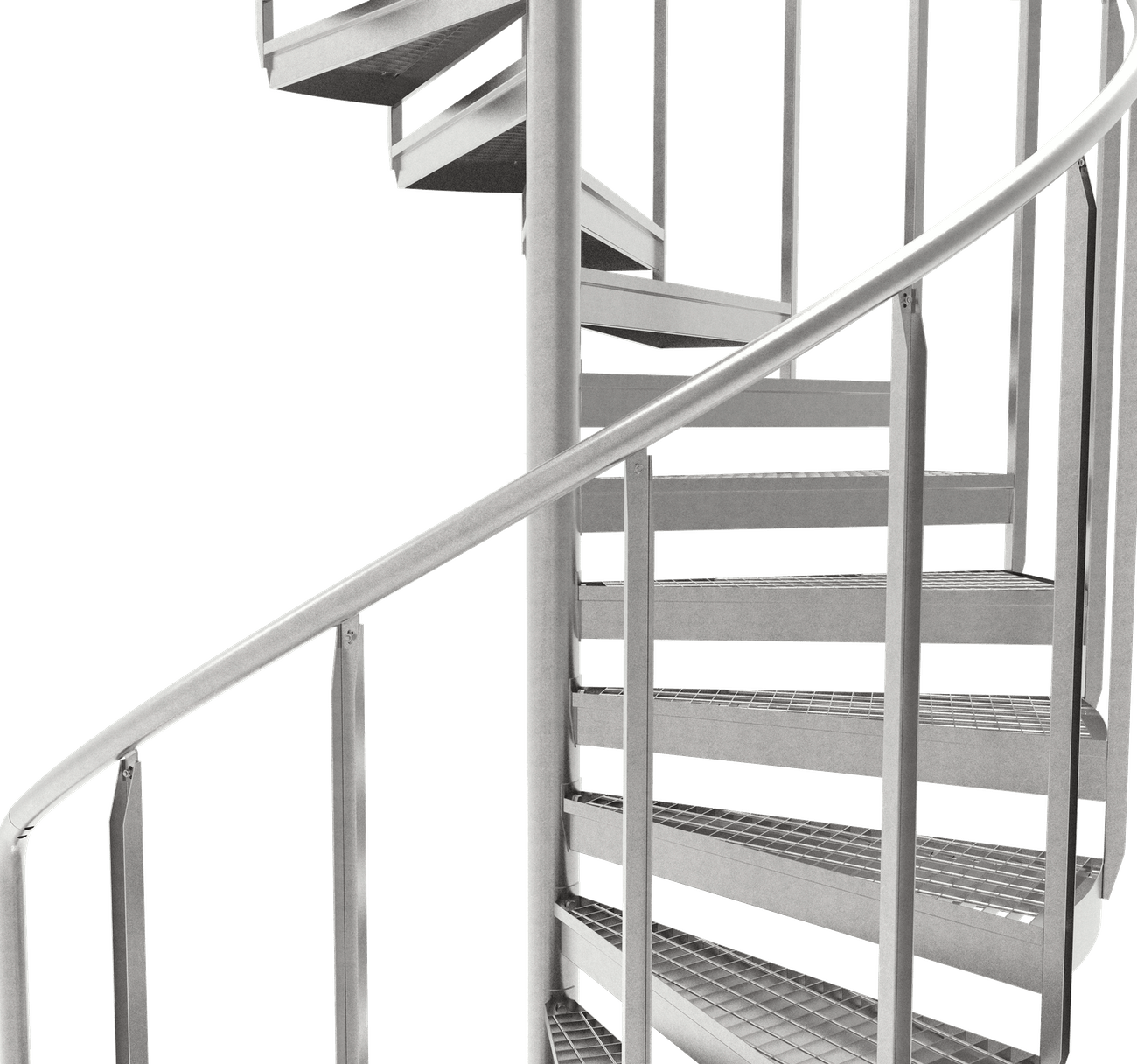 spiral staircase galvanized grating