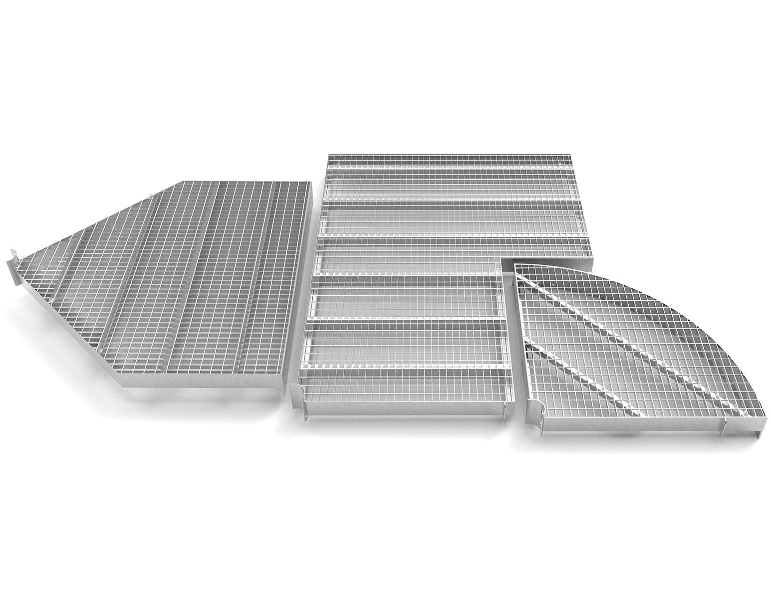 spiral staircase alighting platform