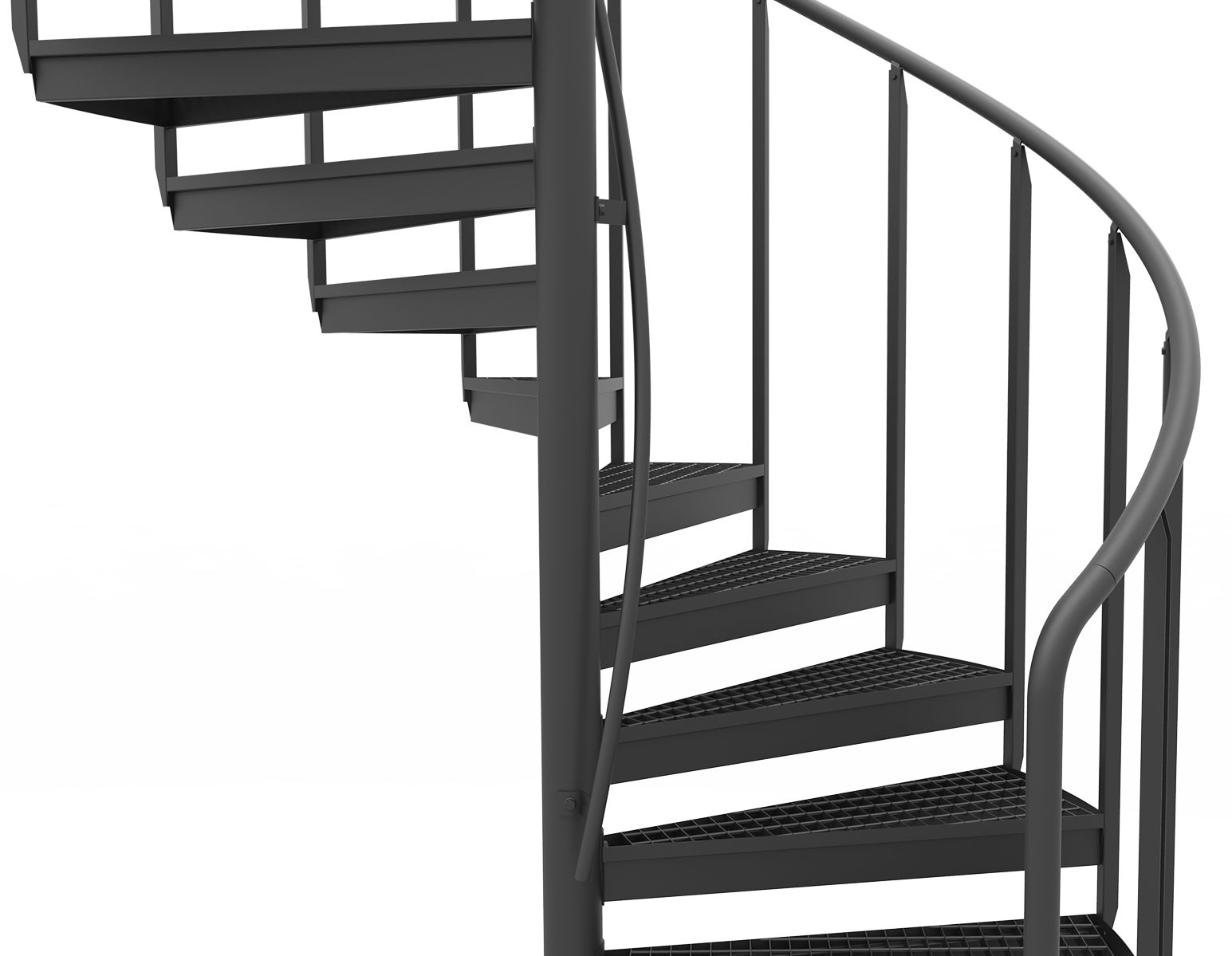 handrail on center tube