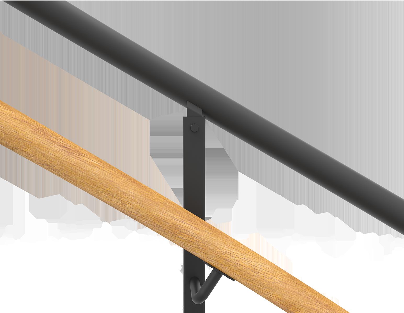 Pulverlackerad spiraltrappa inre handledare ek