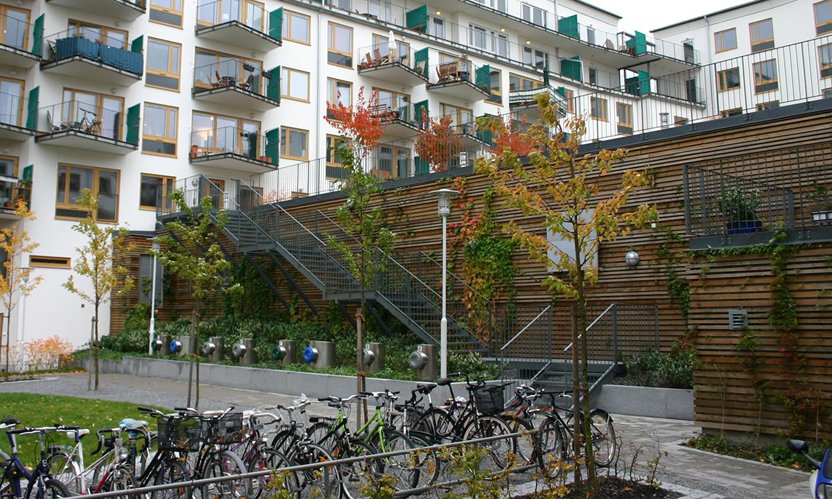 Hammarby sjoestad Eurostair gerade treppen