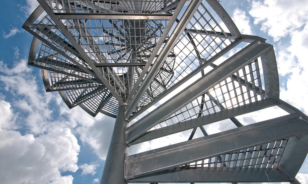 Strangnas  kraftvarmeverk - Eurostair spiraltrapp