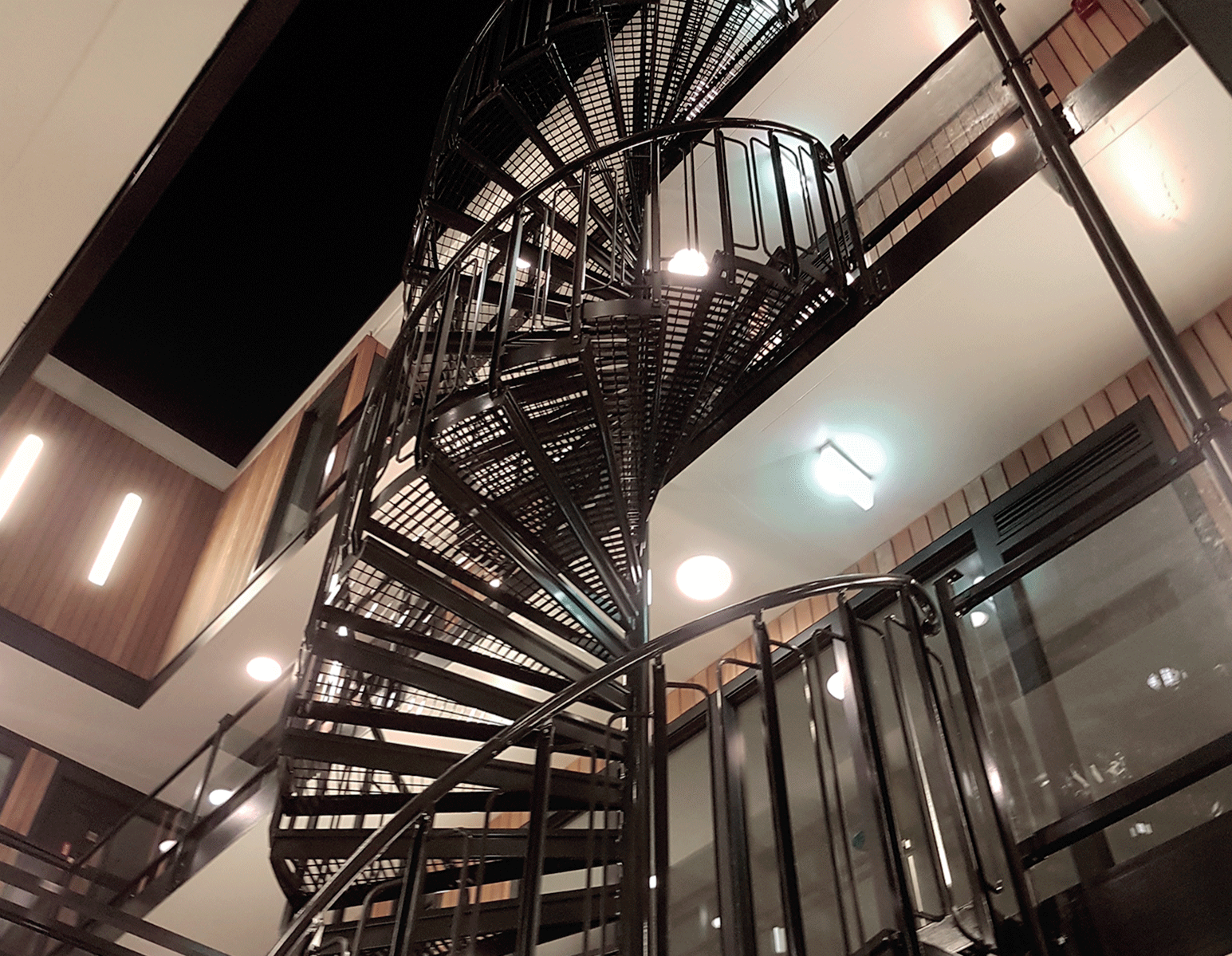surface treatment powder coating spiral staircase
